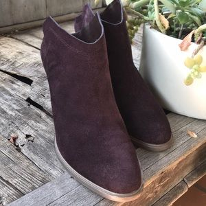 Anthropologie Dolce Vita eggplant slip on boots
